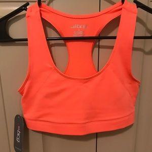 Orange sports bra